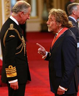 Either Prince Charles is really tall, or Robert Plant is really short.