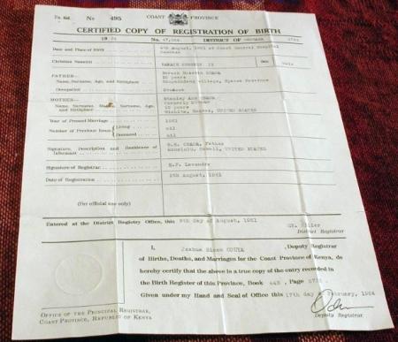 Obama Kenyan Birth Certificate?